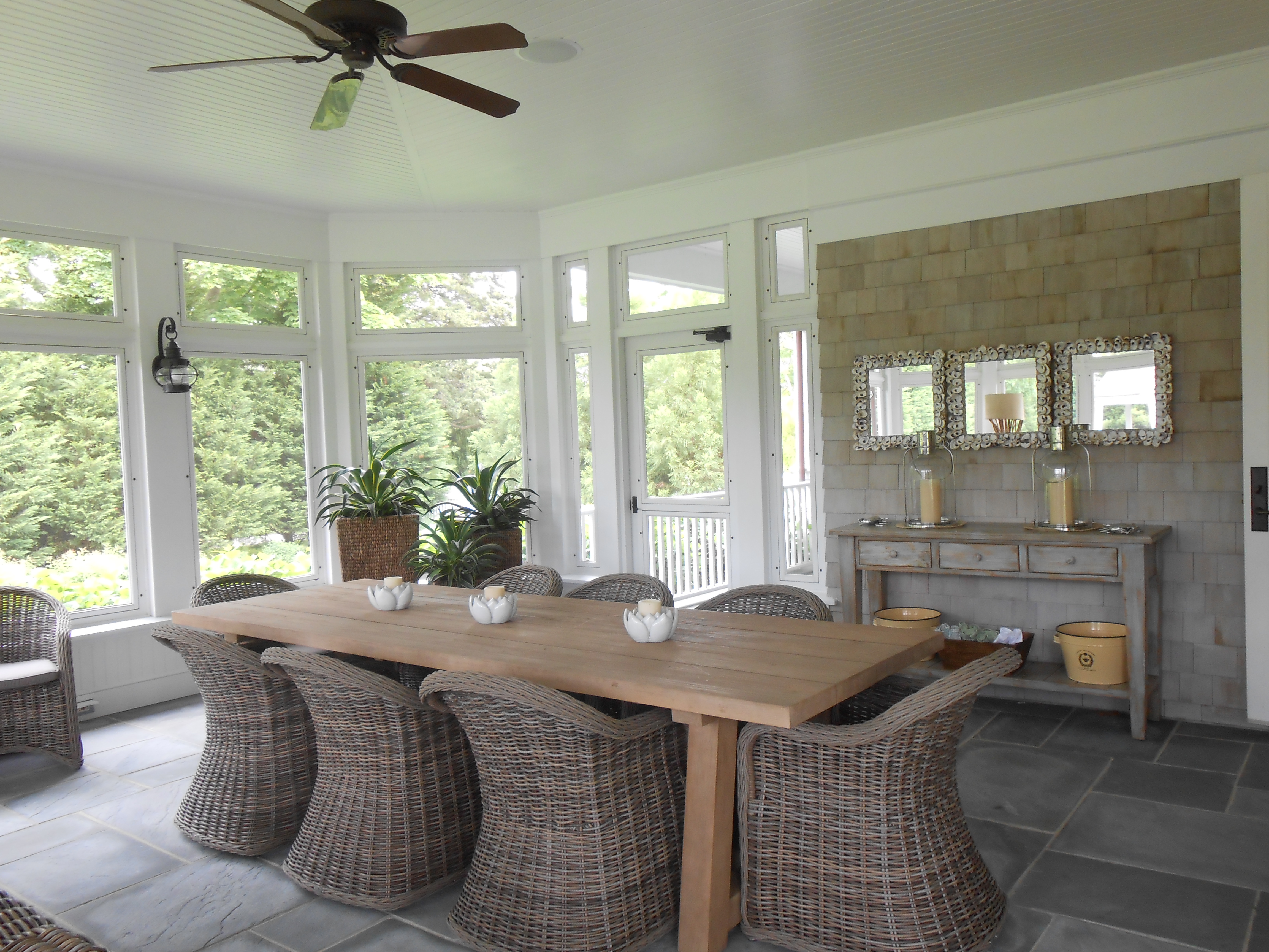 Ralph lauren toni sabatino style for Sunroom dining room ideas